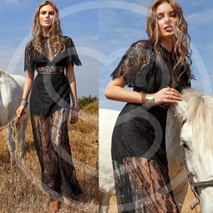 DESTINY Boho Love Black Dress